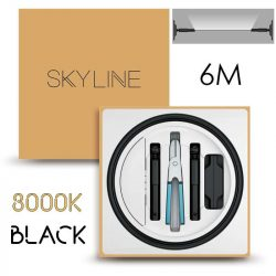SKYLINE AURORA EXKLUZÍV Indirekt világítás 24V 13,5W/m 3000K 6m hosszú Fekete