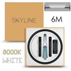 SKYLINE AURORA EXKLUZÍV Indirekt világítás 24V 13,5W/m 3000K 6m hosszú Fehér