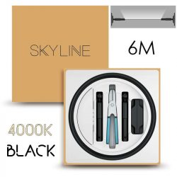 SKYLINE AURORA EXKLUZÍV Indirekt világítás 24V 13,5W/m 4000K 6m hosszú Fekete