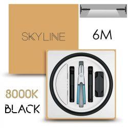 SKYLINE AURORA EXKLUZÍV Direkt világítás 24V 10W/m 3000K 6m hosszú Fekete