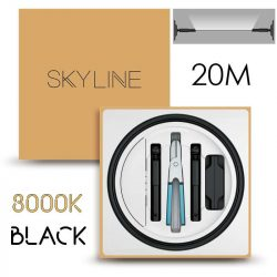 SKYLINE MILKY WAY EXKLUZÍV Indirekt világítás 24V 8,7W/m 3000K 20m hosszú Fekete
