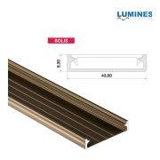 LED Alumínium Profil Széles [SOLIS] Bronz 1 méter
