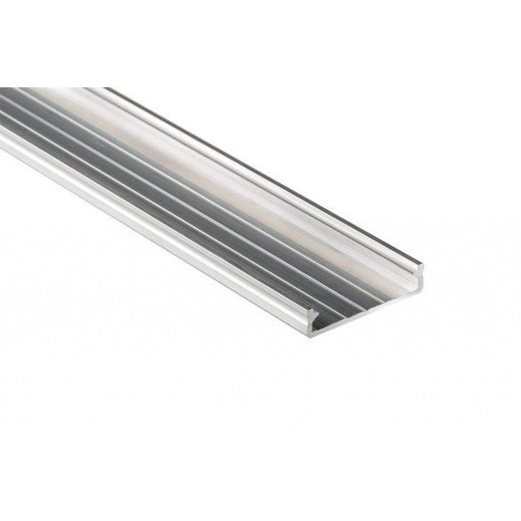 LED Alumínium Profil Széles [SOLIS] Natúr 2 méter