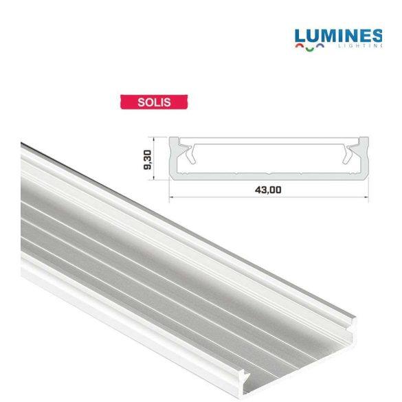 LED Alumínium Profil Széles [SOLIS] Fehér 2 méter