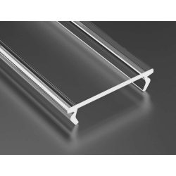 Átlátszó - Transparent PMMA DOUBLE takaróprofil 1 méter
