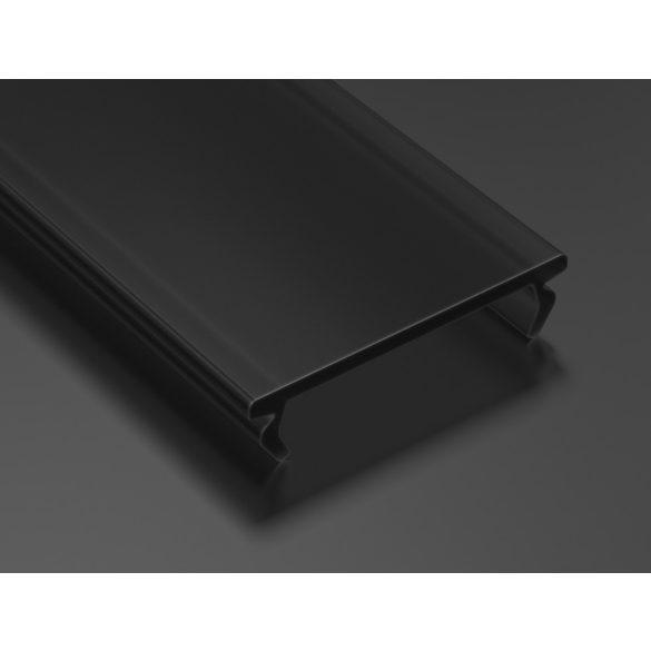 Fekete - Black PMMA takaróprofil DOUBLE típusú 1 méter