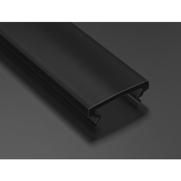 Fekete PMMA takaróprofil Magasított típusú 1 méter
