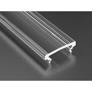 Magasított Átlátszó PVC takaróprofilok  2 méteres profilokhoz