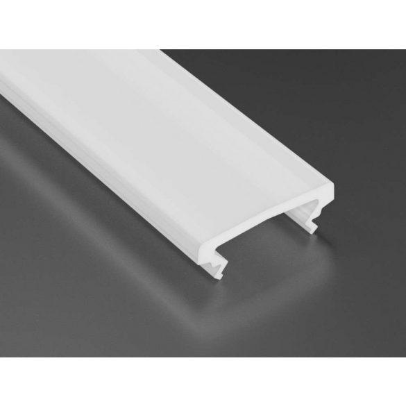 Magasított tejfehér PVC takaróprofilok 2 méteres profilokhoz