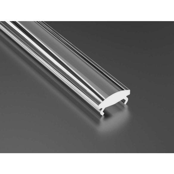 Átlátszó - Transparent PMMA Keskeny takaróprofil 1 méter 15°