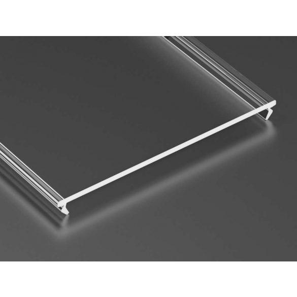 Átlátszó - Transparent PMMA SUPERWIDE takaróprofil 1 méter