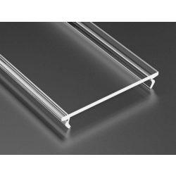Átlátszó PVC takaróprofil Széles Led profilokhoz 2 méteres