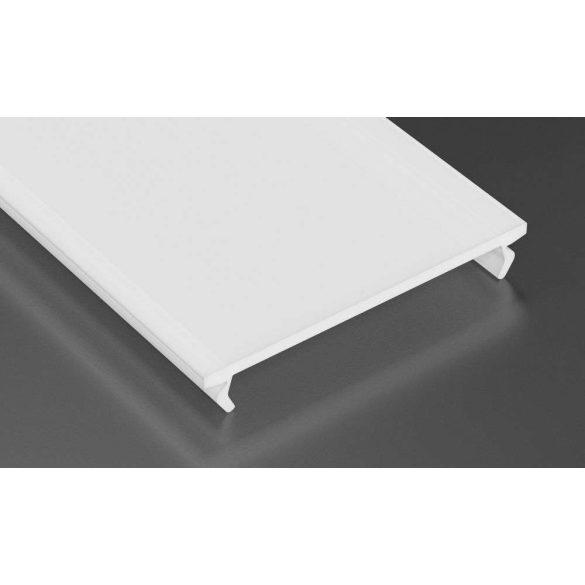Tejfehér PVC takaróprofil Széles Led profilokhoz 2 méteres