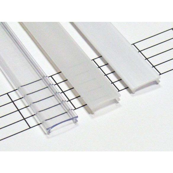 Tejfehér PVC takaróprofil Keskeny 1 méteres profilokhoz