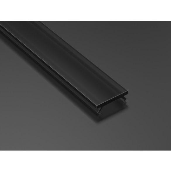 Fekete PMMA takaróprofil Keskeny típusú 1 méter