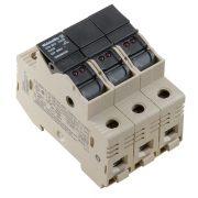 Weidmüller Biztosító tripla sorkapocs LED visszajelzővel - WSI 25/3 10X38/LED