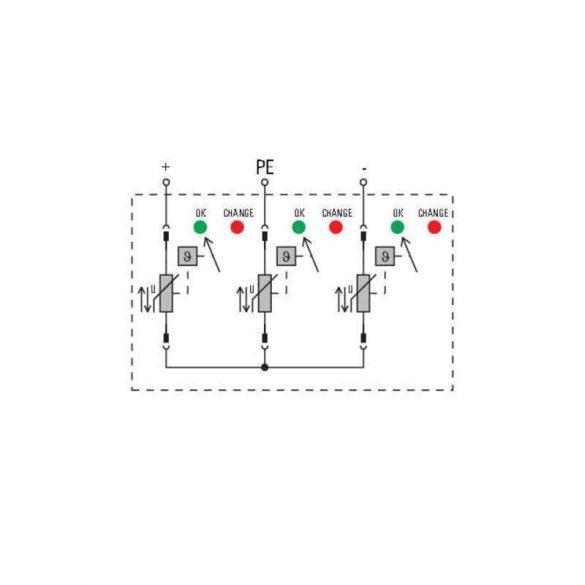 Weidmüller Túlfeszültség levezető - VPU PV II 3 1000