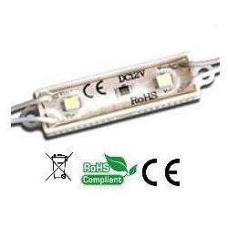 Led modul, 12V, 1,44W, IP67, hideg fehér, 2x2835 led, 3 év garancia.