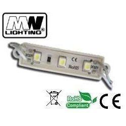 Led modul, 12V, 0,72W, IP67, hideg fehér 6000-7000K, 3x2835 led, 3 év garancia.