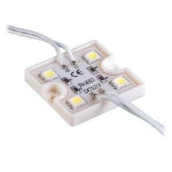 Led Modul 1db 4x3528 led 0,96W sorolható vízálló Hideg fehér