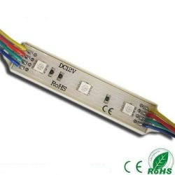 Led Modul 1db 3x5050 led 1,44W sorolható vízálló RGB