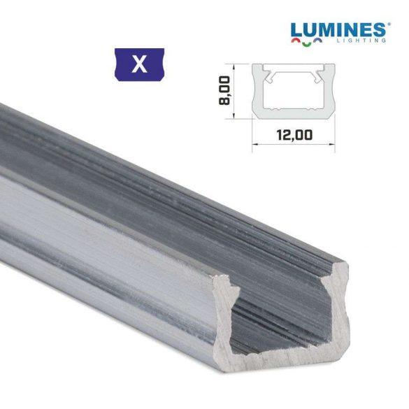 LED Alumínium Profil Keskeny [X] Natúr 1 méter