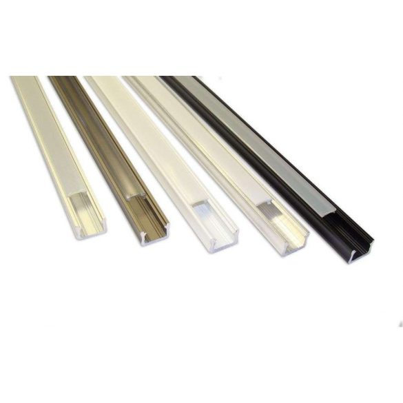 LED Alumínium Profil Keskeny [X] Fekete 2 méter