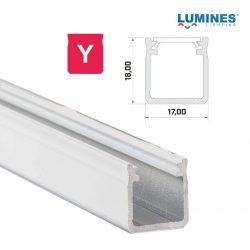 Led profil led szalagokhoz Magas falú  fehér 1 méteres alumínium