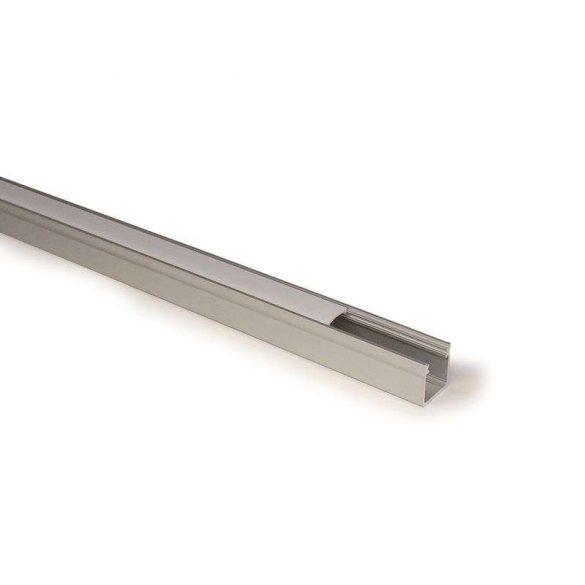 LED Alumínium Profil Magas falú [Y] Fekete 1 méter