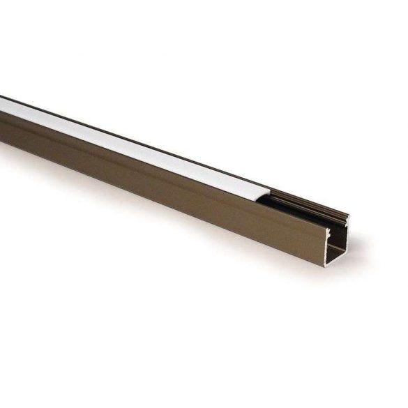 Led profil led szalagokhoz Magas falú  bronz 2 méteres alumínium
