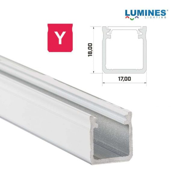 LED Alumínium Profil Magas falú [Y] Fehér 2 méter