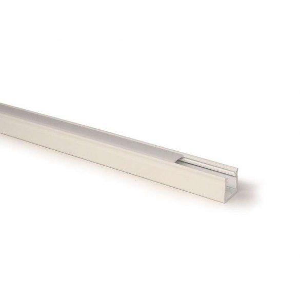 Led profil led szalagokhoz Magas falú  fehér 2 méteres alumínium