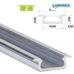 Led profil led szalagokhoz Beépíthető natúr 1 méteres alumínium