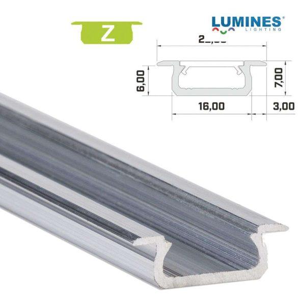 LED Alumínium Profil Beépíthető [Z] Natúr 1 méter