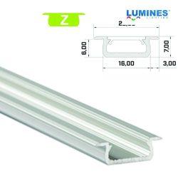 Led profil led szalagokhoz Beépíthető ezüst 2 méteres alumínium