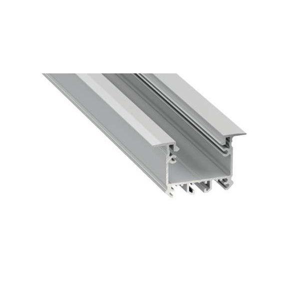 Led Alumínium Profil inTALIA 2 méter Ezüst